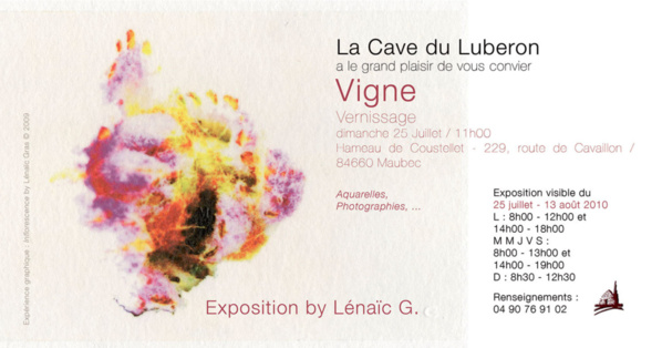 "Invitation de l'Expo ""Vigne"""