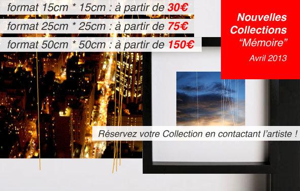 """En Avril 2013, 3 nouvelles Collections """"Mémoire"""" : Laroque ; Manna-hata ; mori."""