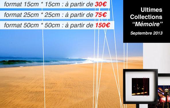 """En Septembre 2013, 3 nouvelles Collections """"Mémoire"""" : Ouest ; Borough ; Verzeihung."""