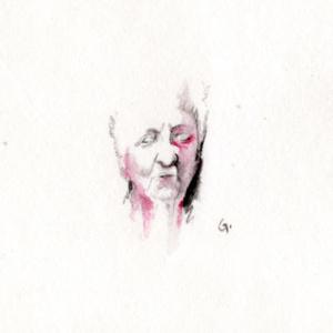 """dessin-aquarelle - """"invisible 01"""" - 2013 - 10cm*10cm - étude pour les """"invisibles"""" - 50€"""